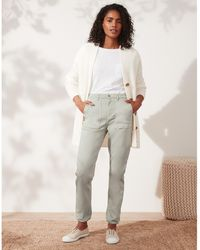 The White Company Casual Cuff Utility Pants - Gray