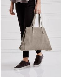 The White Company - Suede Tote Bag - Lyst
