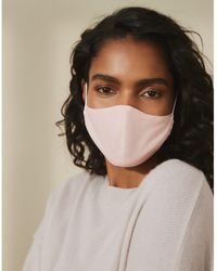The White Company Linen Face Mask - Pink