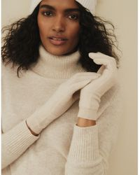 The White Company Cashmere Essential Gloves - Natural