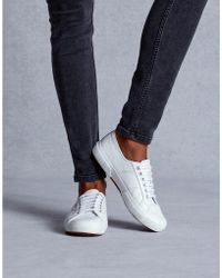The White Company Superga Leather Sneakers - White