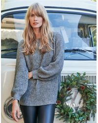 The White Company - Sparkle Bell Sleeve Sweater With Alpaca - Lyst
