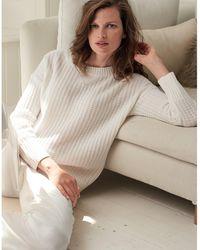The White Company Waffle-knit Chunky Sweater - White