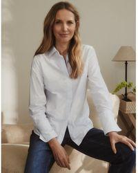 The White Company Cotton Split-back Stripe Shirt - Multicolour