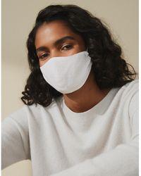 The White Company Linen Face Mask - White