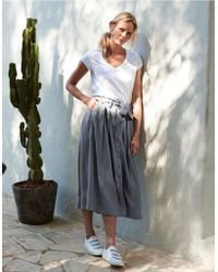 The White Company - Fluid Button Through Midi Skirt - Lyst