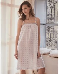 The White Company Cotton Jacquard Nightgown - White