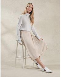 The White Company Cashmere Roll-neck Sweater - Multicolor