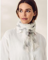 The White Company Modal-wool Leopard Scarf - Grey