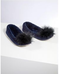 The White Company - Feather Pom-pom Ballet Slippers - Lyst