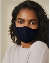 The White Company Linen Face Mask - Blue