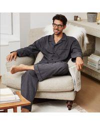 The White Company Pajama Set With Bag - Blue
