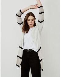 The White Company Cotton-linen Stripe Coatigan - Multicolour