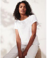 The White Company Organic-cotton Crew-neck T-shirt - White