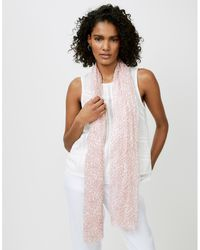 The White Company Diamond Print Long Scarf - Pink