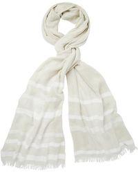 The White Company - Modal Blend Soft Stripe Scarf - Lyst