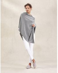 The White Company Poncho With Cashmere - Gray