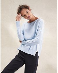 The White Company - Tipped Crew Neck Sweater - Lyst