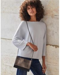 The White Company - Suede Shoulder Bag - Lyst