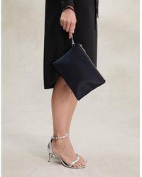 The White Company Satin Wristlet Clutch Bag - Black