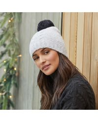 The White Company - Cable Pom-pom Bobble Hat - Lyst