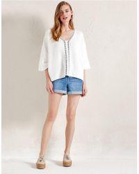 The White Company - Pale Wash Denim Shorts - Lyst