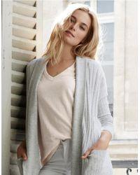 The White Company - Cotton V-neck T-shirt - Lyst