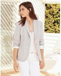 The White Company - -linen Blazer - Lyst