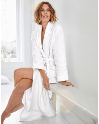The White Company Unisex Cotton Waffle Double Faced Robe - White
