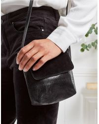 The White Company - Leather Mini Crackle Bag - Lyst