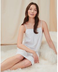 The White Company Cotton Pintuck-detail Nightgown - White