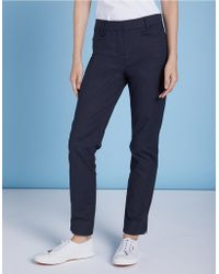 The White Company - Oxford Sateen Ankle Grazers Pants - Lyst