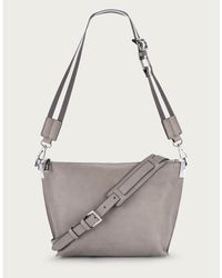 The White Company Leather Cross Body Bag - Gray