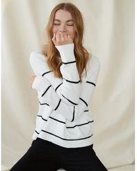 The White Company Cotton Stripe Jumper - White