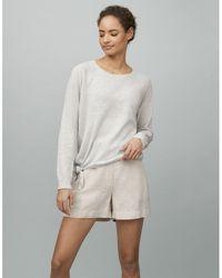 The White Company Linen-cotton Knot-detail Sweater - Multicolor