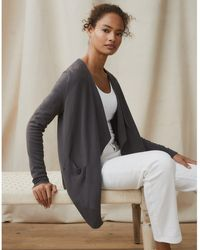 The White Company Waterfall Cardigan - Gray