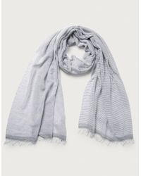 d90f313829b Lyst - The White Company Cashmere-rich Sparkle Scarf in Gray
