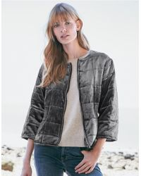 The White Company - Velvet Quilted Jacket With Silk - Lyst