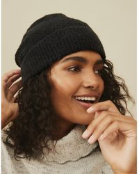 The White Company Boucle Hat With Wool - Black