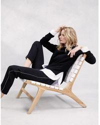 The White Company Cashmere Crew-neck Sweater - Black