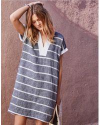 elegant in style factory coupon codes Linen Block Stripe T Shirt Dress