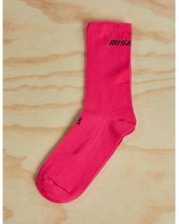 MISBHV Logo Socks - Pink