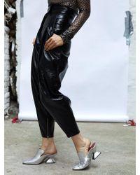 Wanda Nylon High-waisted Pants - Black
