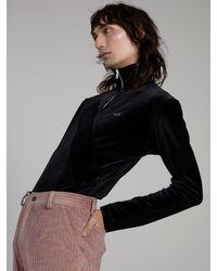 ANTON BELINSKIY Velour Sport Bodysuit - Black