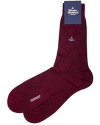 Vivienne Westwood   Squiggle Pattern Socks   Lyst