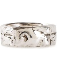 Henson Carved Ring - Metallic