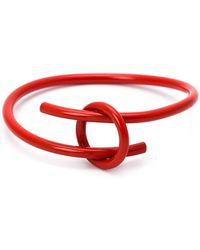 WXYZ Jewelry Overlap Bangle - Red