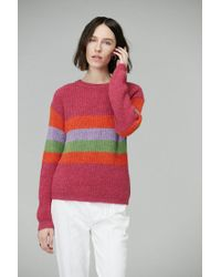 VEDA - Wolfe Sweater In Bright Pink Stripes - Lyst