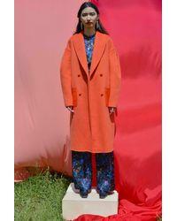 VEDA Rhapsody Wool Coat Tangerine - Multicolor