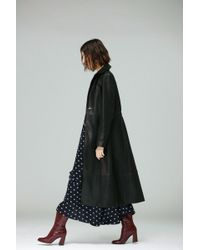 VEDA - Meter Leather Trench Coat Black - Lyst